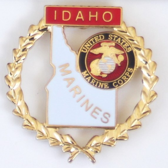 Pins-Idaho & Marine Corps Flags Reef